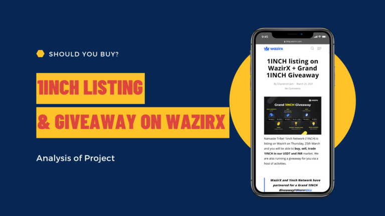 1Inch Project Analysis and Giveaway on WazirX | What is a DEX and how it works?