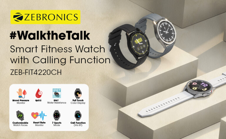 Zebronics ZEB-FIT4220CH Smart Fitness Watch Launched: Price & Specs