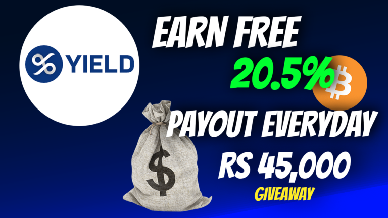 YIELD.App Introduction   Legit Way To Make 20% APY   $YLD GIVEAWAY Rs 45,000💰   For Indian Community